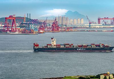 """大船落日,""""观海001""""看到这样的胶州湾"""