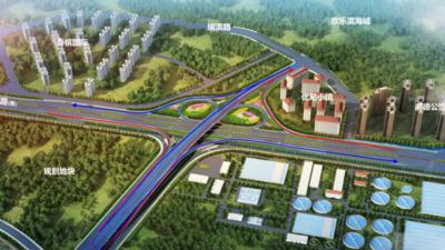 青岛环湾路—长沙路立交桥本月下旬开建,建成后将辐射欢乐滨海城区域