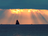 这场完美的日出日落,昨天你看到了吗?