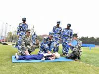 射击训练、战术训练、搏击训练……山科大举办大学生军事技能竞赛
