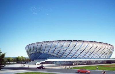 西海岸再添新地标!青岛古镇口大学城体育馆主体封顶,预计2021年底前竣工