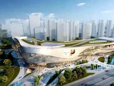 青岛金茂览秀城商业综合体工程开始地上施工,预计2023年开业