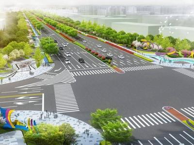 预计2022年完工!靖城路拓宽改造工程开工,为亚洲杯足球赛事保障通道