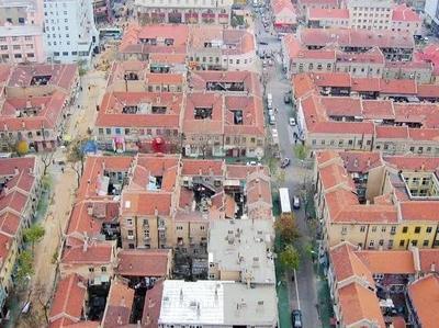 城市影像档案 2005年青岛里院俯瞰图