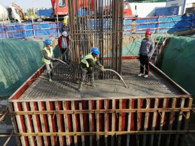 9月主桥通车!环湾路-长沙路立交桥工程全面加速,首座承台浇筑完成