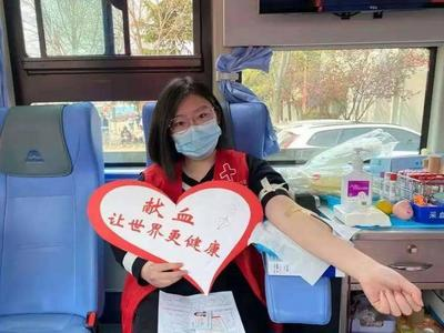 无偿献血车开进青科大,3天486人献血155600毫升