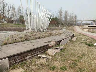 记者在现场|墙皮脱落,树木倒伏......景观河管理不到位变为垃圾河