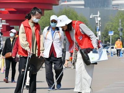志愿服务走进景区,文明旅游为青岛加分