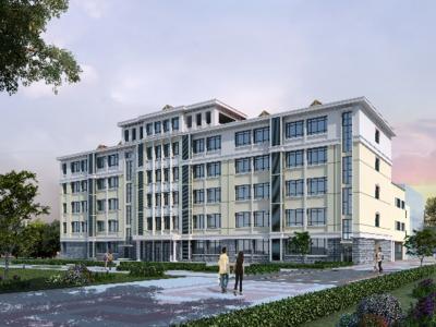 新进展!青岛第十七中学扩建教学楼全面进入装饰装修阶段
