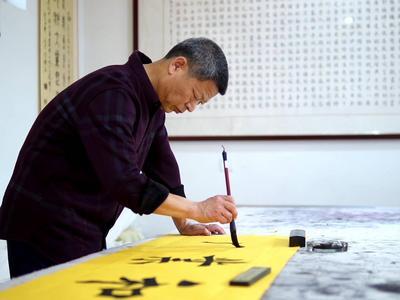 青岛这个900多人口的乡村,专业书画家40多人,其中3名省级书法家协会会员