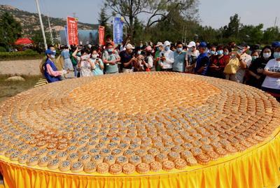 鳌山卫茶芋文化节:5米大蒸锅免费尝