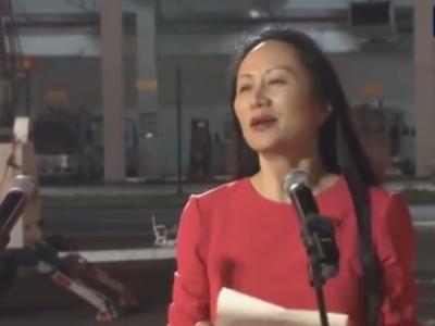 孟晚舟在深圳机场发表感言:信仰如果有颜色,一定是中国红