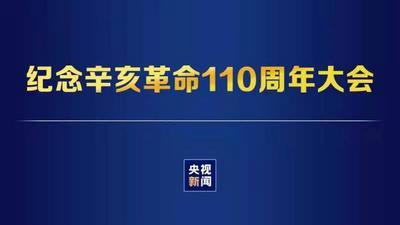 回放 纪念辛亥革命110周年大会